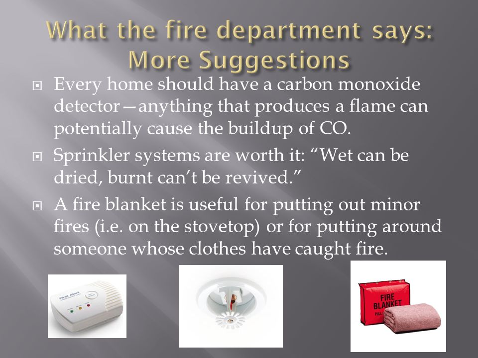 What the fire department says: More Suggestions