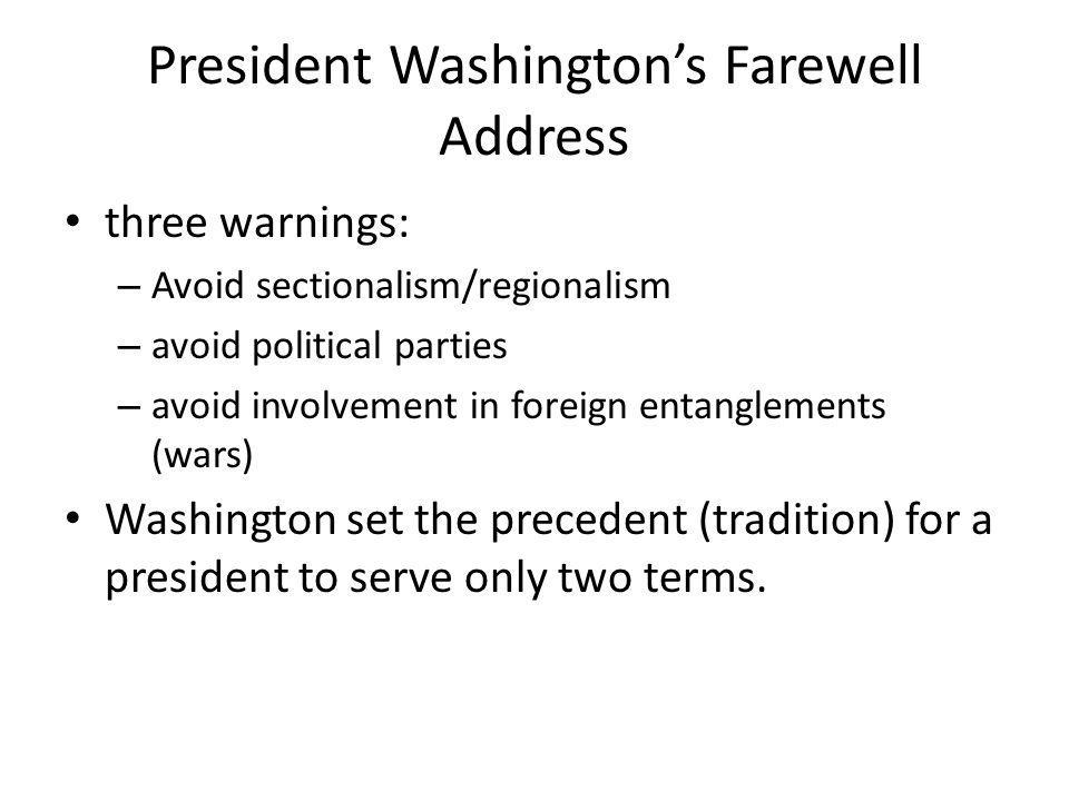 President Washington's Farewell Address