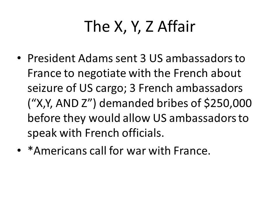 The X, Y, Z Affair