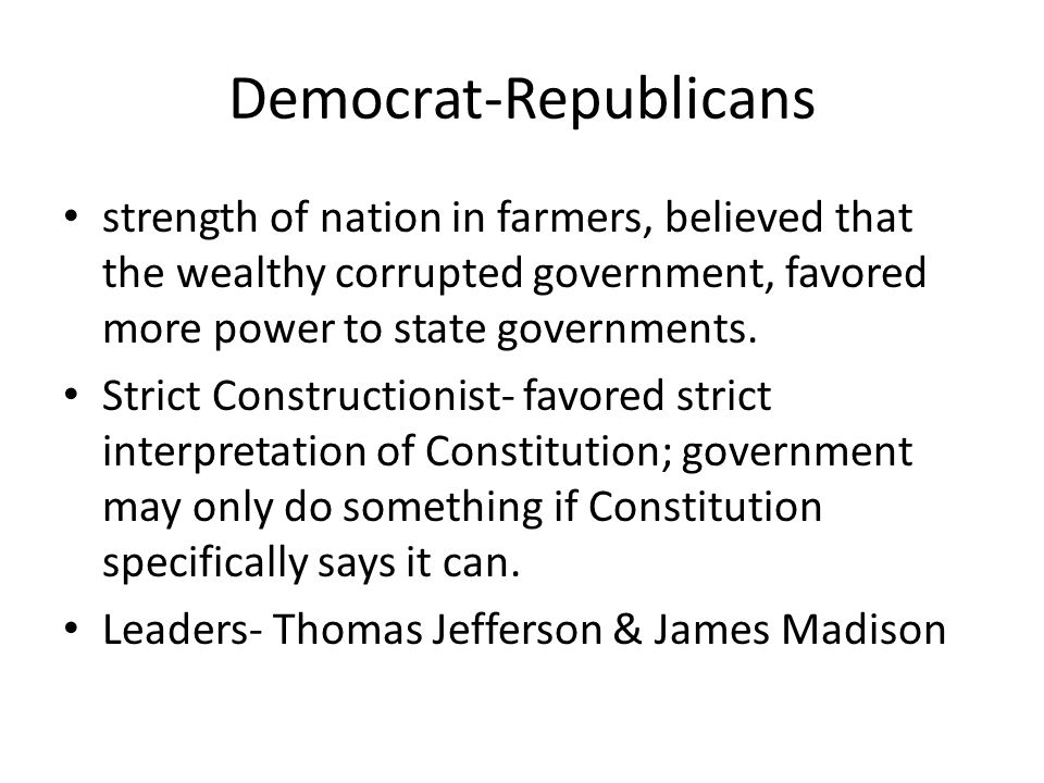 Democrat-Republicans