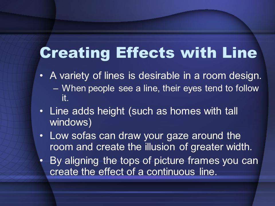Creating Effects with Line