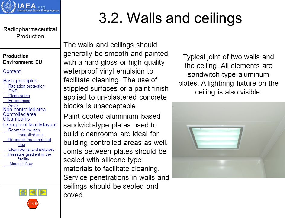3.2. Walls and ceilings