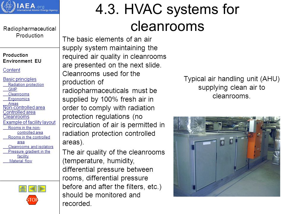 4.3. HVAC systems for cleanrooms