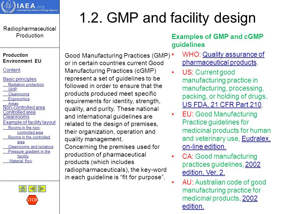 1.2. GMP and facility design
