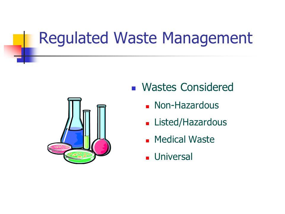 Regulated Waste Management