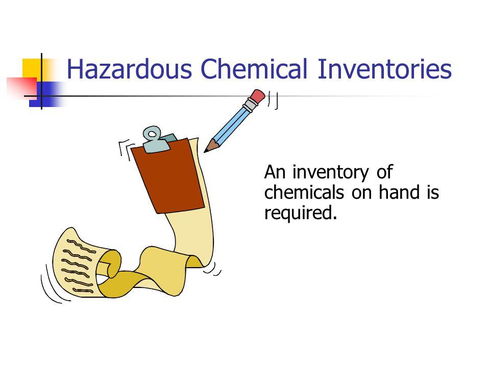 Hazardous Chemical Inventories