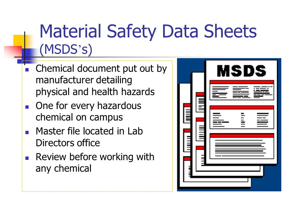 Material Safety Data Sheets (MSDS's)
