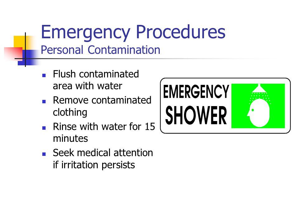 Emergency Procedures Personal Contamination
