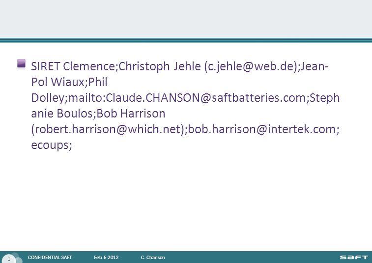 SIRET Clemence;Christoph Jehle (c. jehle@web