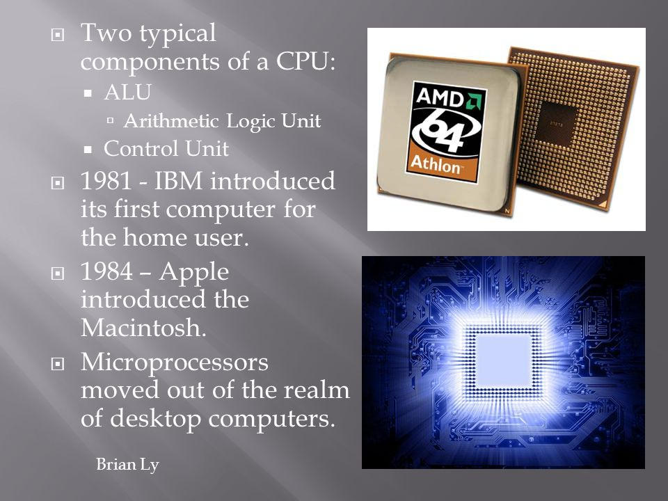 Two typical components of a CPU: