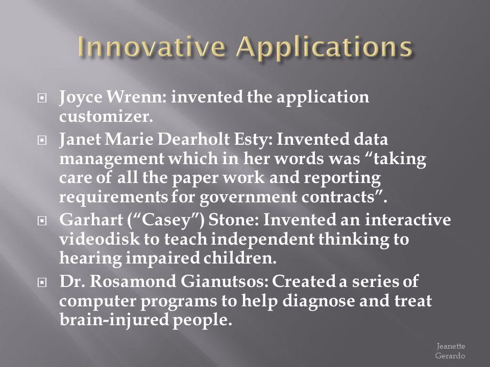 Innovative Applications