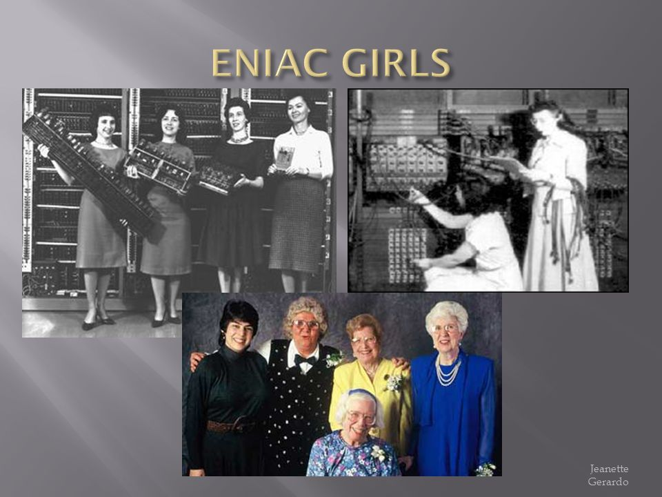 ENIAC GIRLS Jeanette Gerardo