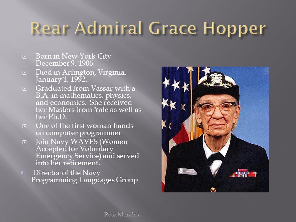 Rear Admiral Grace Hopper