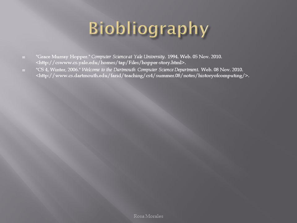 Biobliography