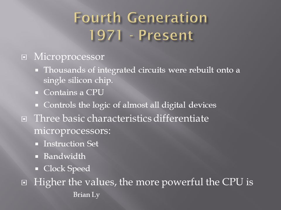 Fourth Generation 1971 - Present
