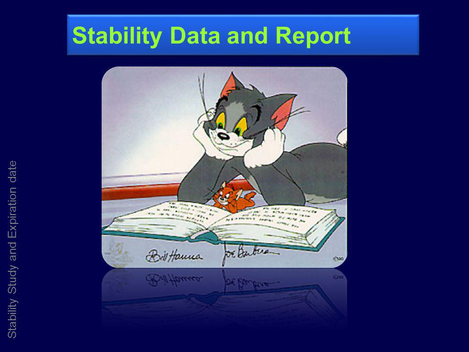 Stability Data and Report