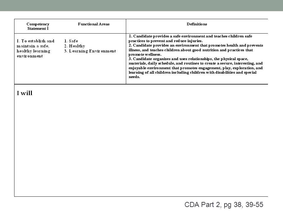 cda competency statement 3