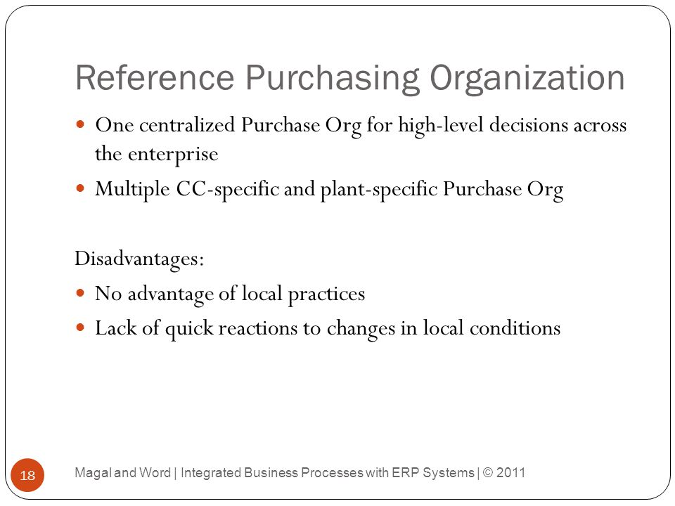 Reference Purchasing Organization