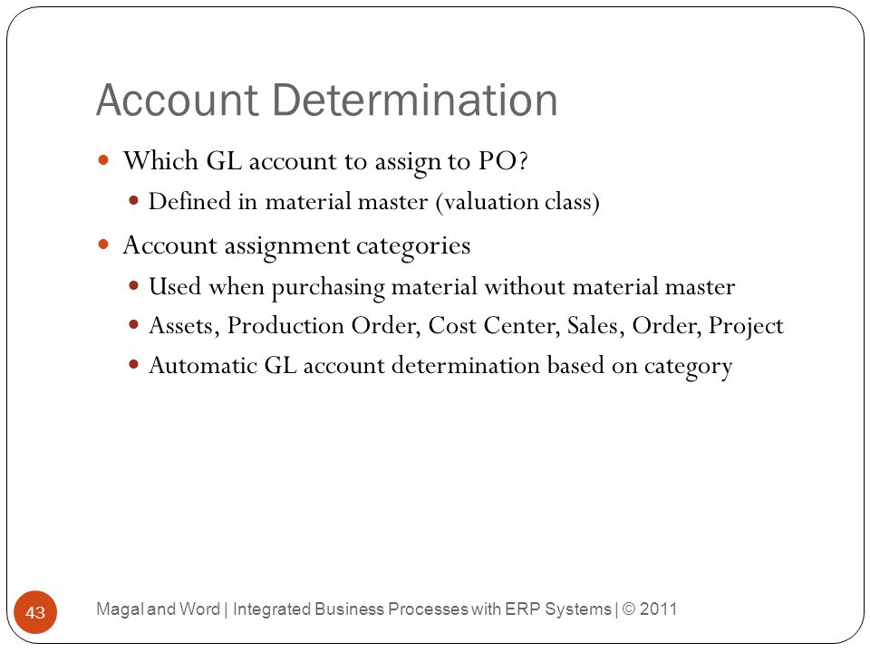 Account Determination