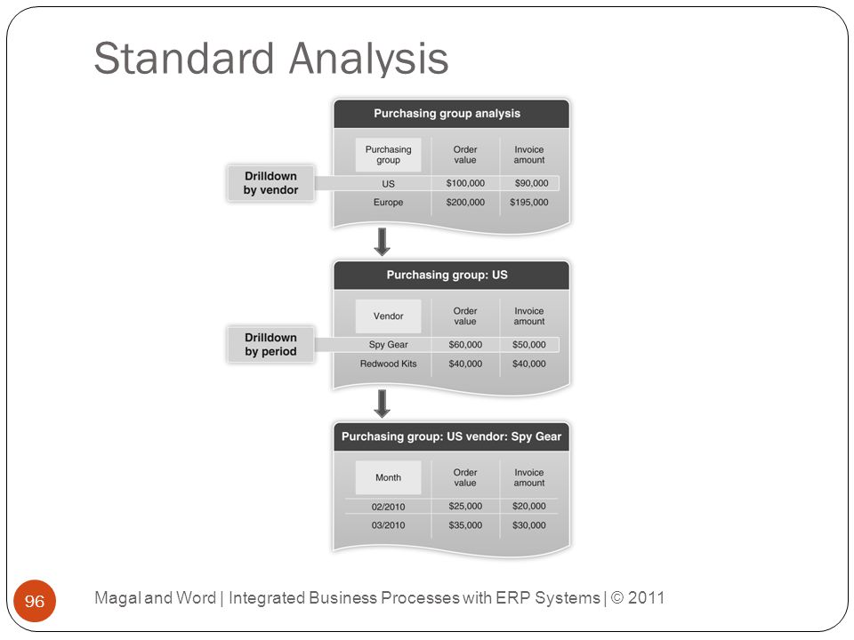 Standard Analysis Magal and Word | Integrated Business Processes with ERP Systems | © 2011