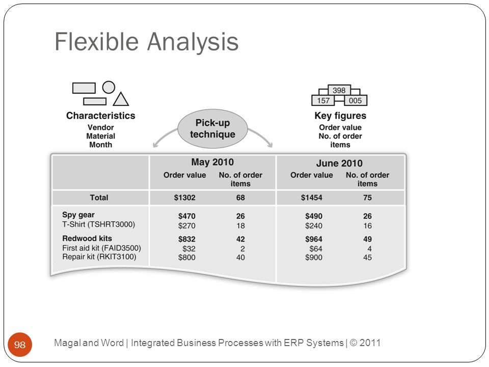 Flexible Analysis Magal and Word | Integrated Business Processes with ERP Systems | © 2011