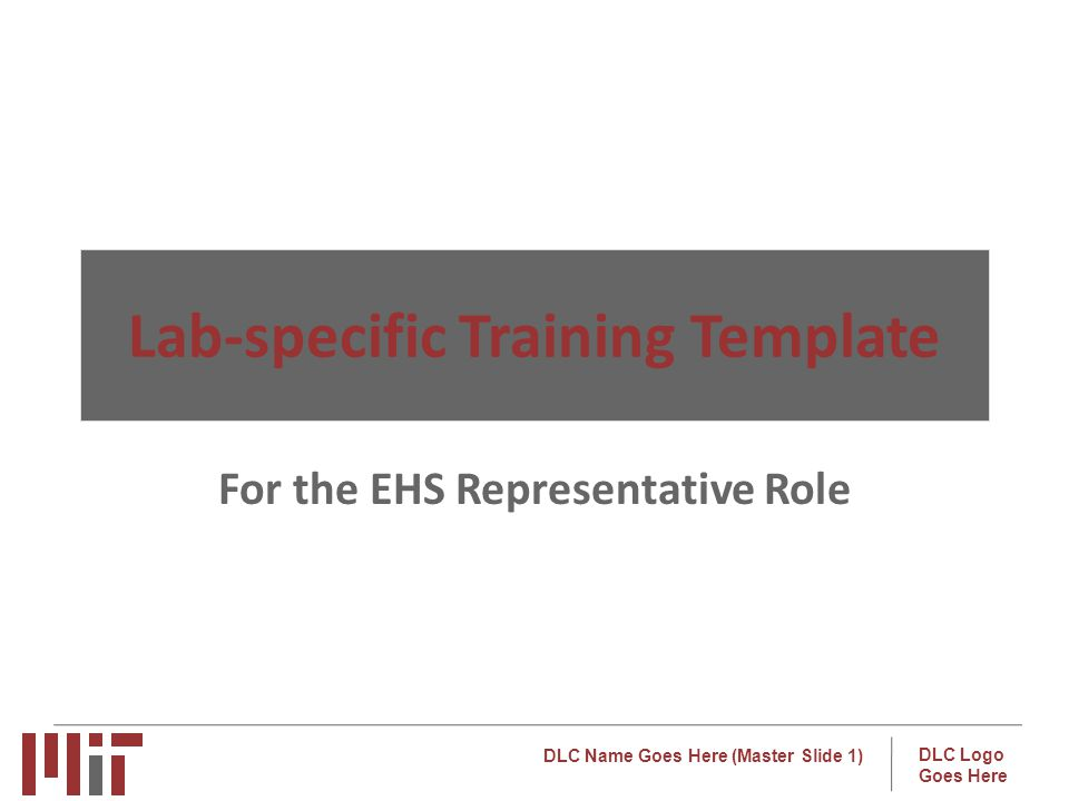 Lab-specific Training Template