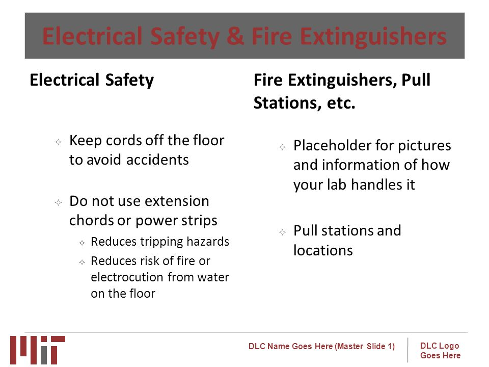 Electrical Safety & Fire Extinguishers