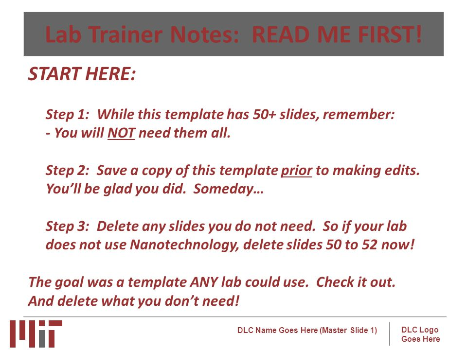 Lab Trainer Notes: READ ME FIRST!