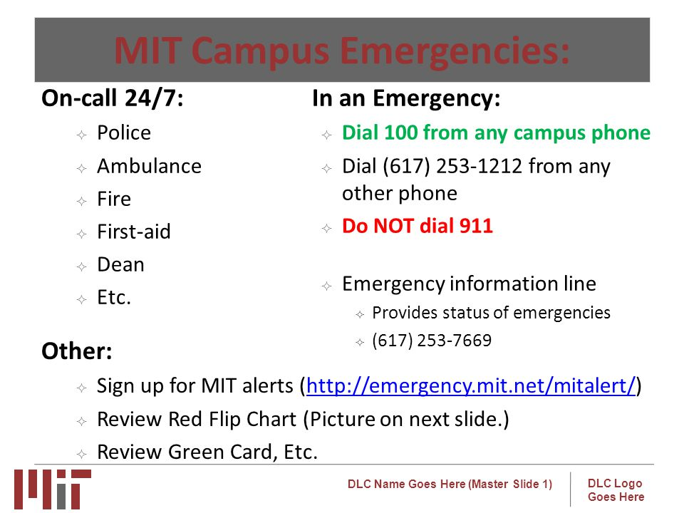 MIT Campus Emergencies: