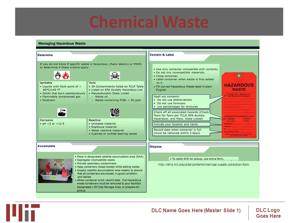 Chemical Waste http://ehs.mit.edu/site/content/chemical-waste-collection-form.