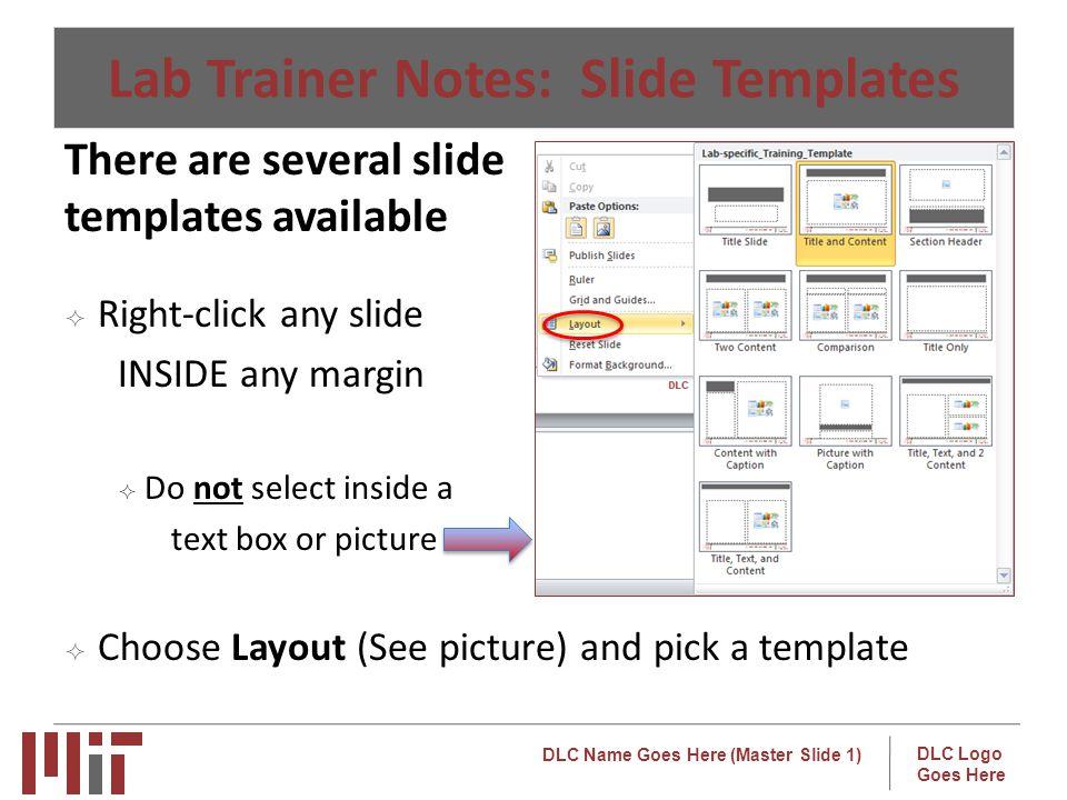 Lab Trainer Notes: Slide Templates