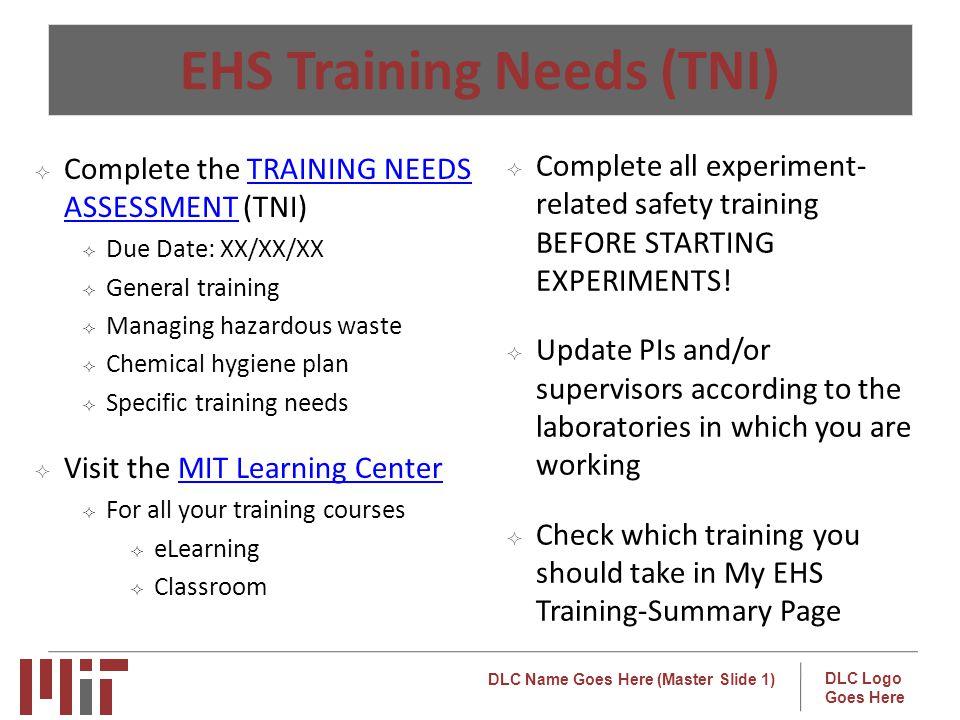 EHS Training Needs (TNI)