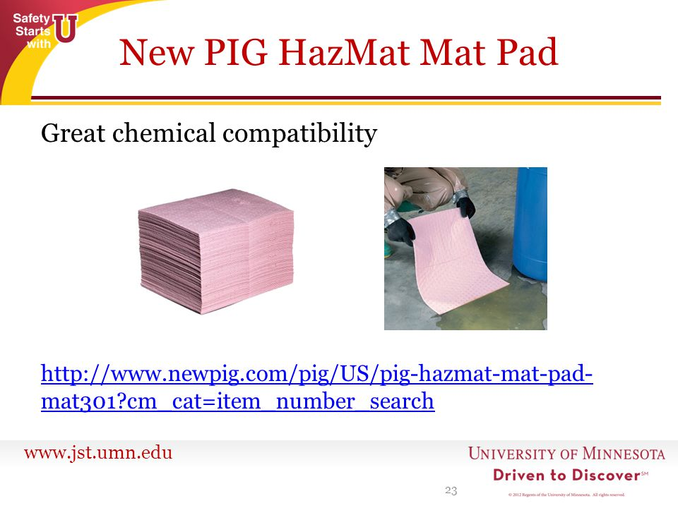 New PIG HazMat Mat Pad Great chemical compatibility