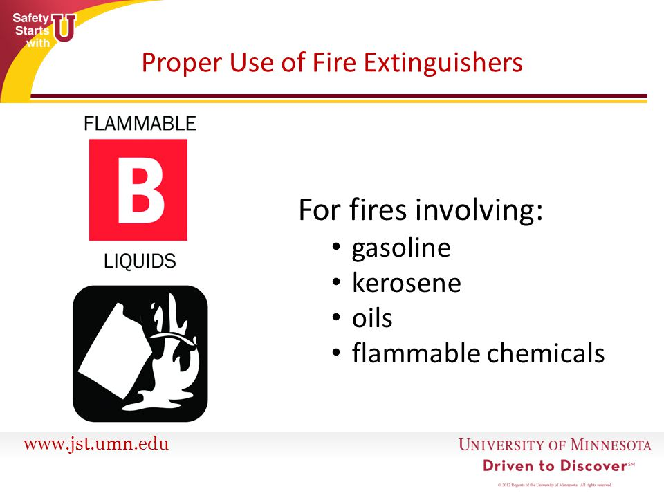 Proper Use of Fire Extinguishers