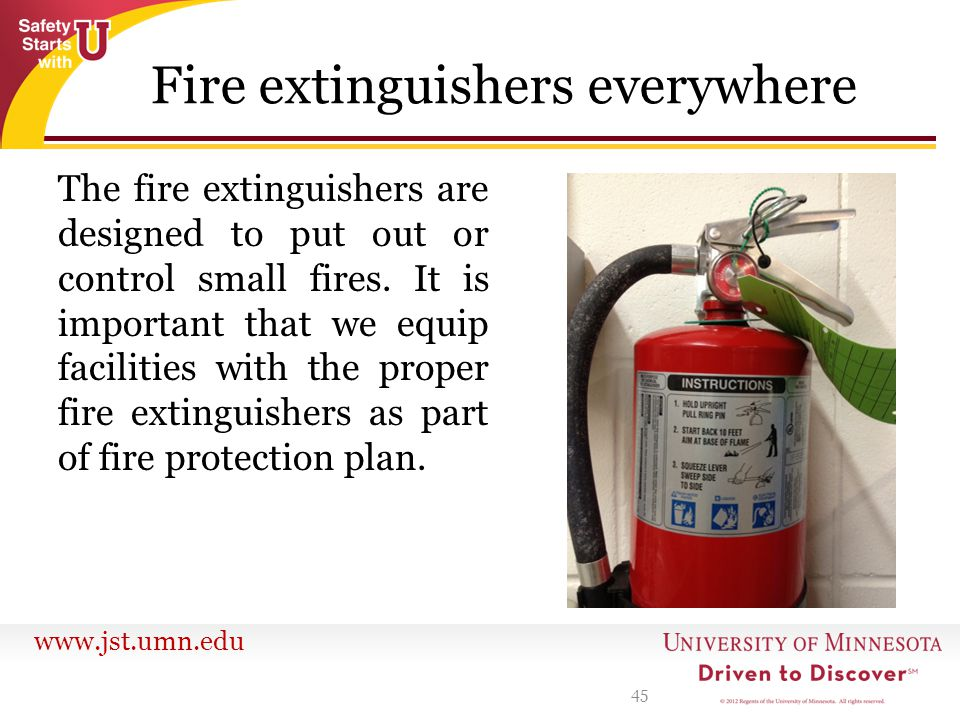 Fire extinguishers everywhere