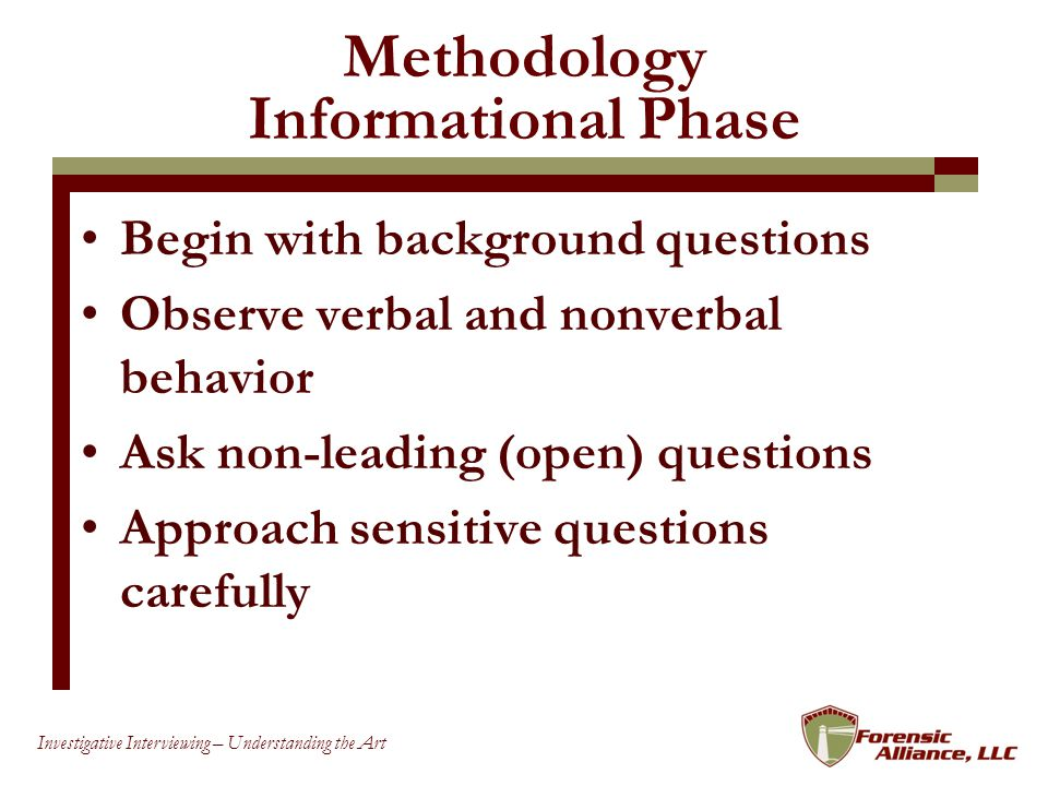 Methodology Informational Phase