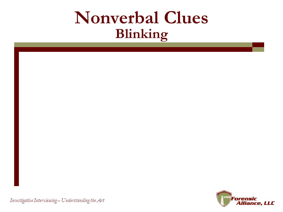 Nonverbal Clues Blinking