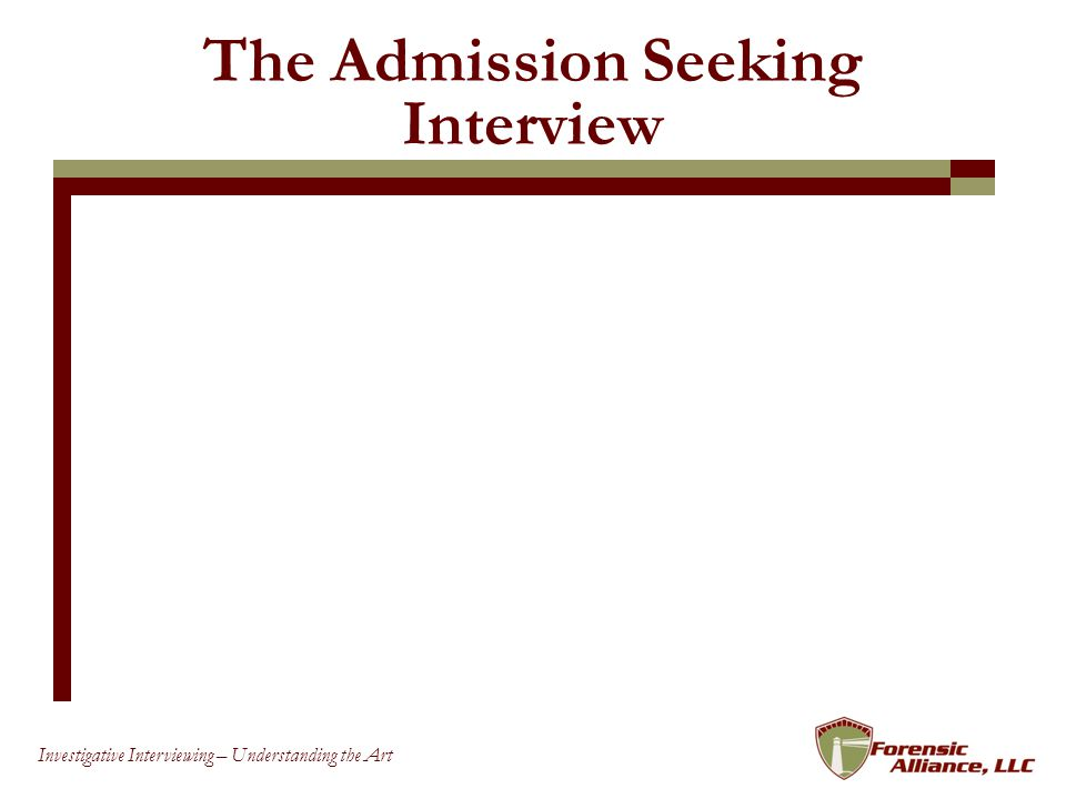 The Admission Seeking Interview