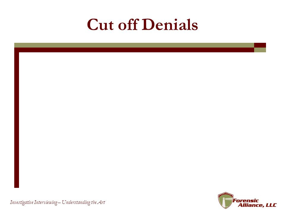 Cut off Denials