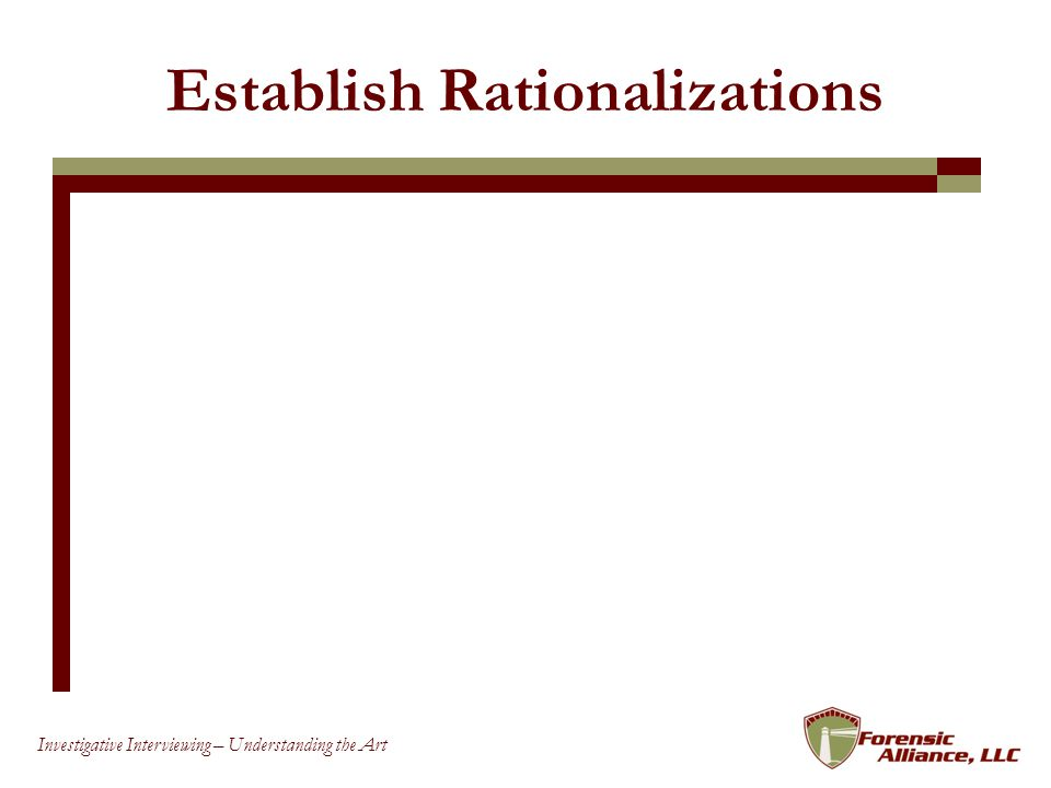 Establish Rationalizations