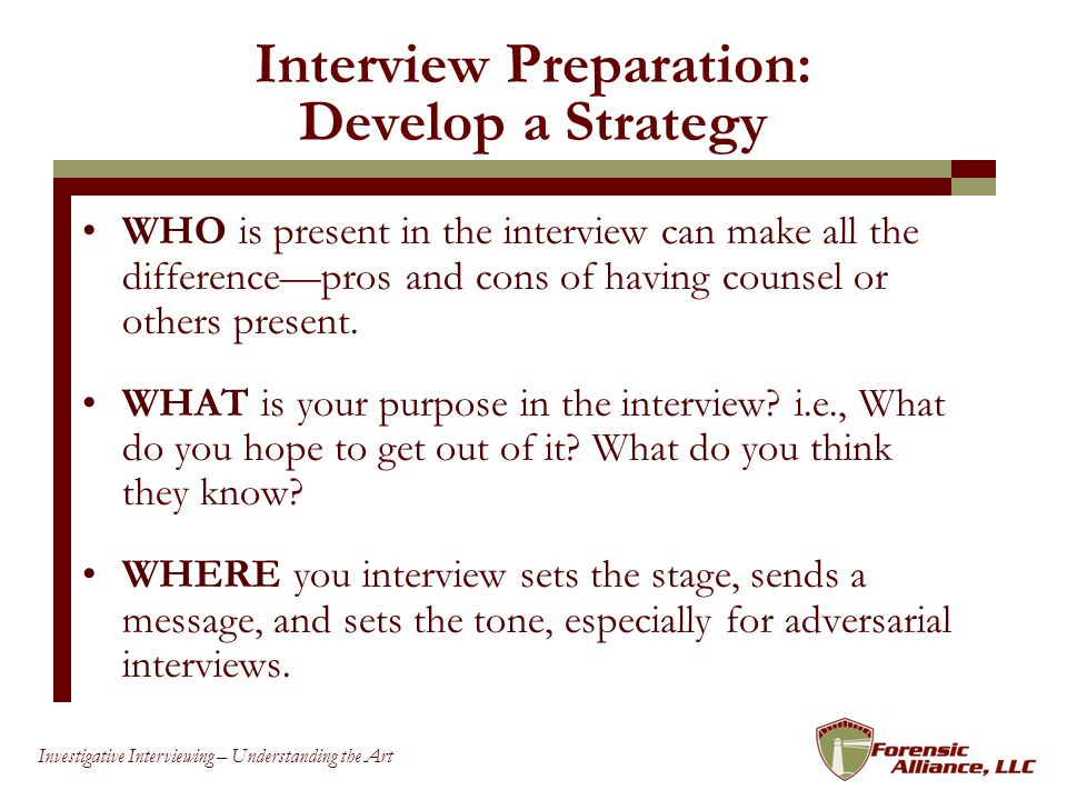 Interview Preparation: Develop a Strategy