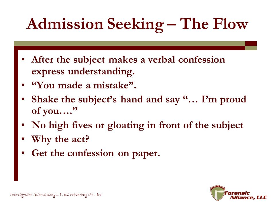 Admission Seeking – The Flow