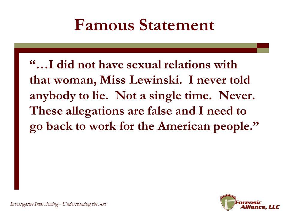 Famous Statement