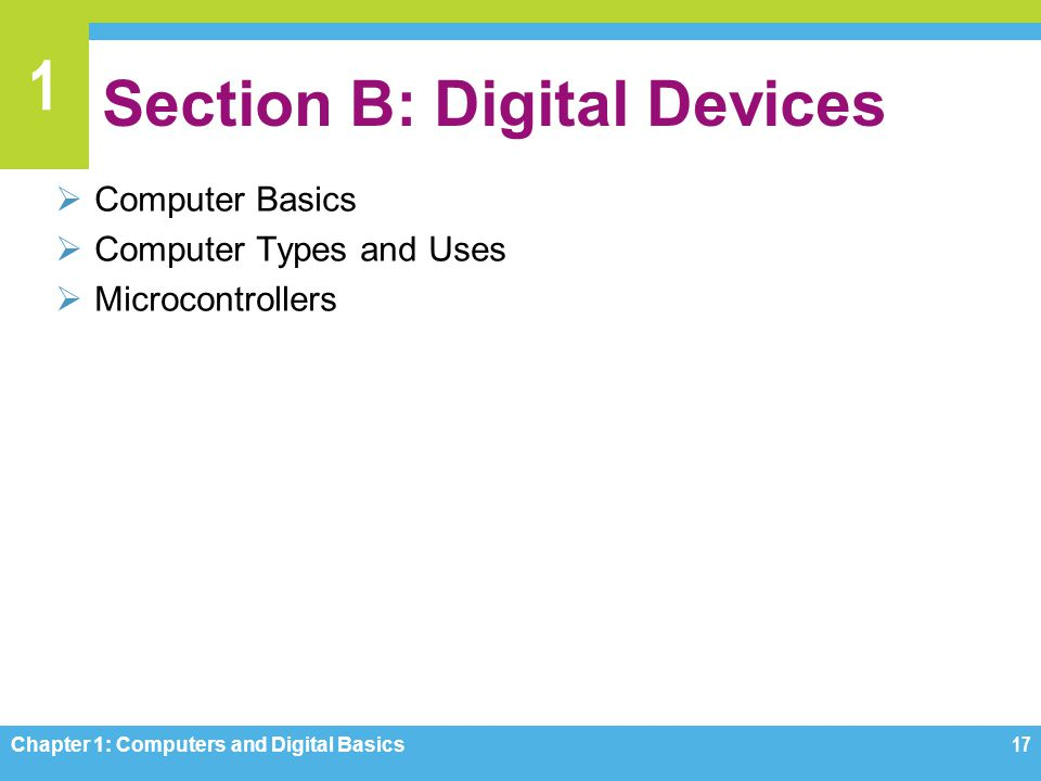 Section B: Digital Devices
