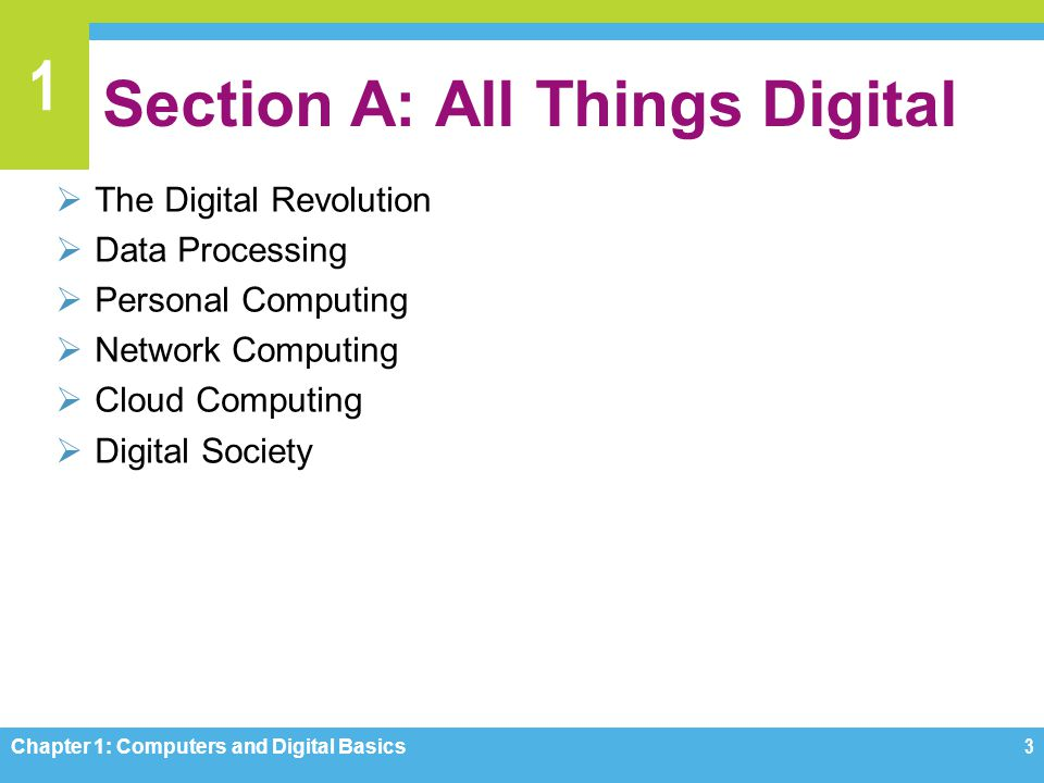Section A: All Things Digital