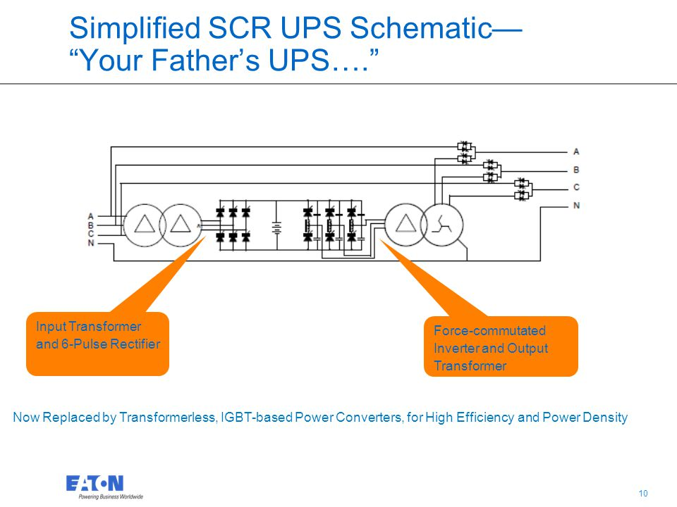 Simplified SCR UPS Schematic— Your Father's UPS….