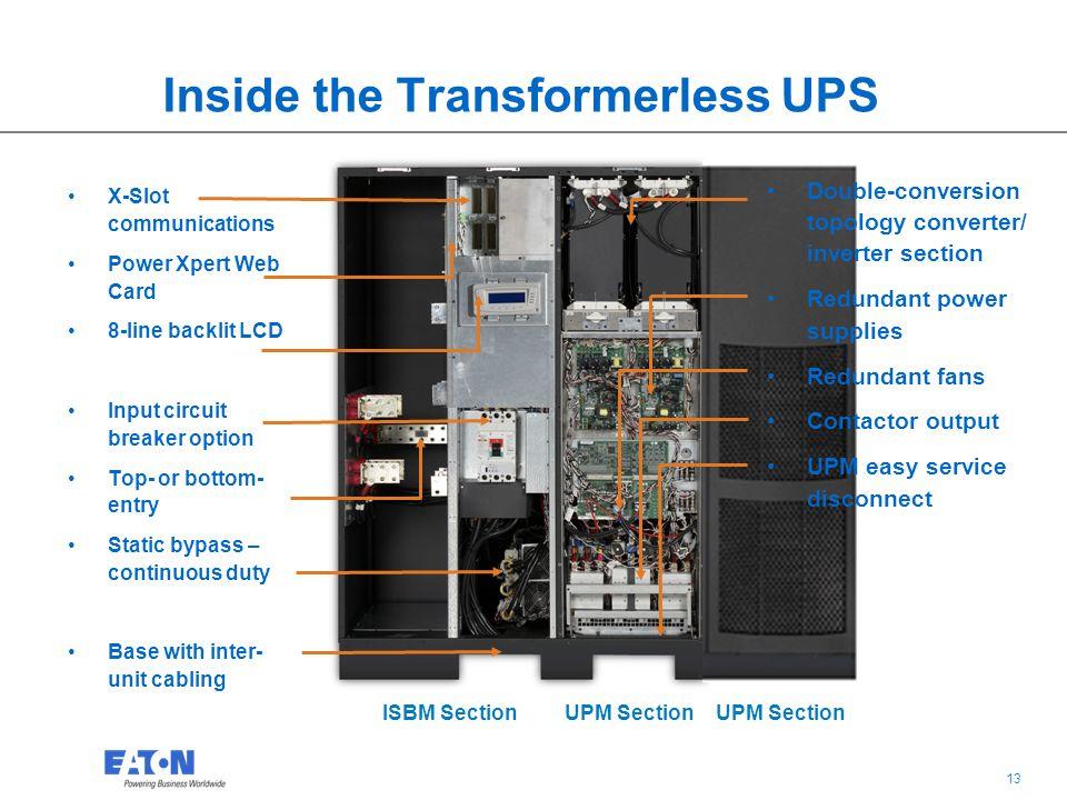 Inside the Transformerless UPS