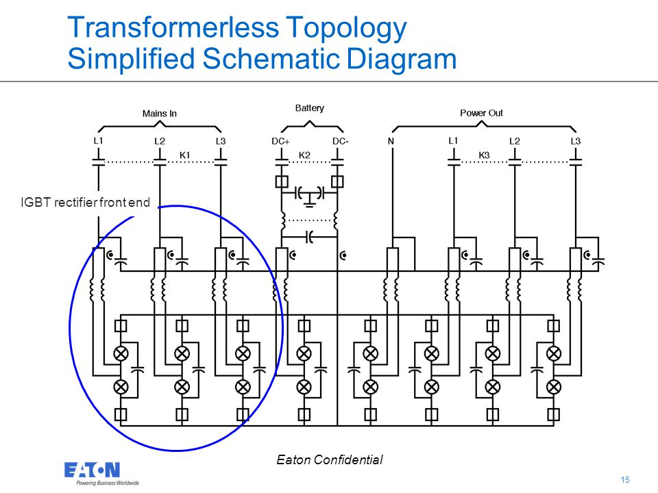 Transformerless Topology Simplified Schematic Diagram