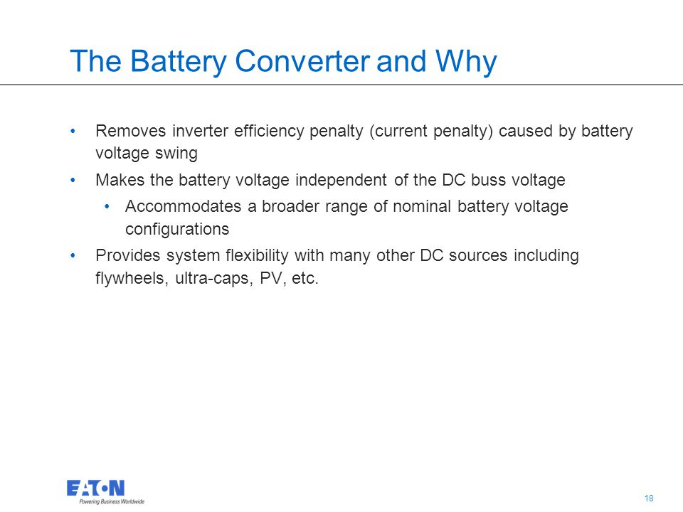 The Battery Converter and Why