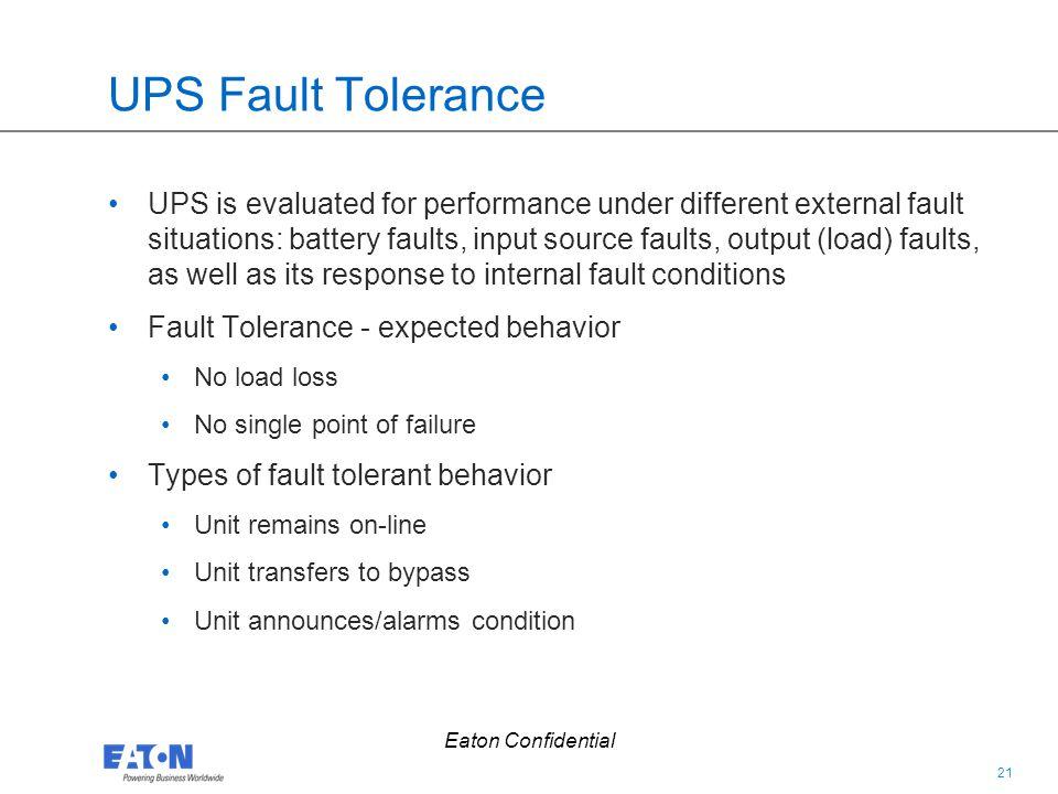 UPS Fault Tolerance